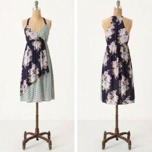 Anthropologie - Lilka Crysanthemum floral dress